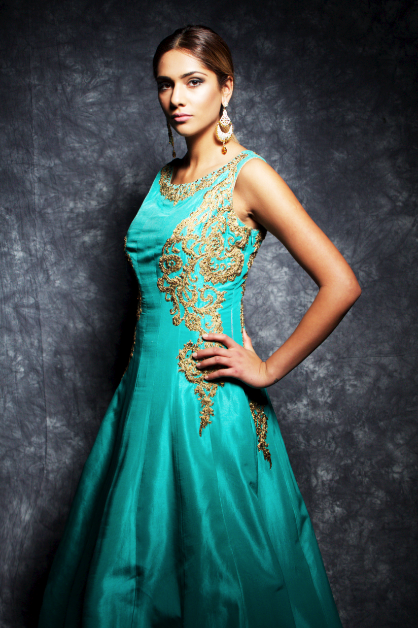 Silk gown with Zari – Payals Boutique Asian Bridal Birmingham